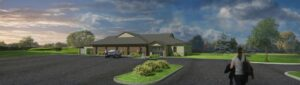 Architectural Design - Exterior Elevation of McDonald Eye Care Lakeville MN