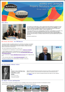 Newsletter Archive - August 2016 appro and cerron newsletter